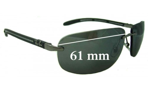 Sunglass Fix Replacement Lenses for Ray Ban RB8303 - 61mm Wide