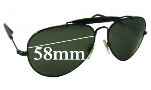 Ralph Lauren PL 9503 Replacement Sunglass Lenses - 58mm wide