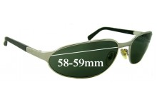 Ray Ban RB3107 Replacement Sunglass Lenses - 58-59mm wide lenses