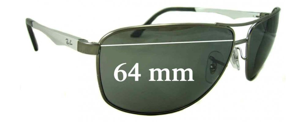 111b0bd2140d6 Sunglass Fix Replacement Lenses for Ray Ban RB3506 - 64mm Wide