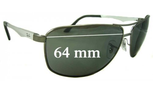 Sunglass Fix Replacement Lenses for Ray Ban RB3506 - 64mm Wide