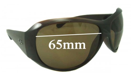 Ray Ban RB4104  Replacement Sunglass Lenses - 65mm Wide