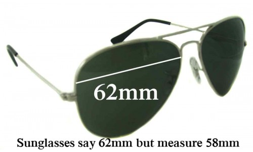 Sunglass Fix Replacement Lenses for Ray Ban RB1103 Bausch Lomb - 62mm Wide