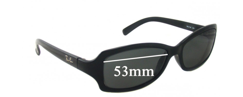 Ray Ban RB2130 Replacement Sunglass Lenses - 53mm wide