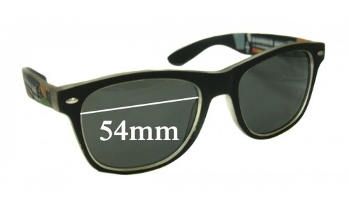 Sunglass Fix Replacement Lenses for Ray Ban RB2200 Wayfarer - 54mm wide