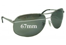Ray Ban RB3387 Replacement Sunglass Lenses - 67mm wide