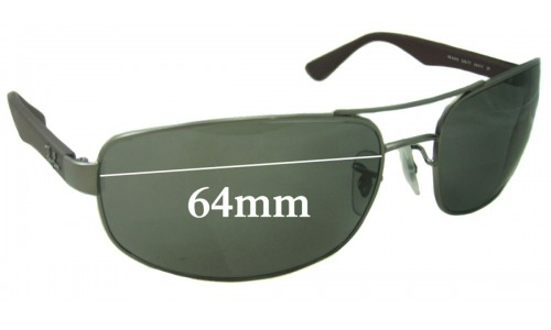 Sunglass Fix Replacement Lenses for Ray Ban RB3445 - 64mm Wide