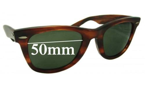 Sunglass Fix Replacement Lenses for Ray Ban Wayfarer Bausch Lomb - 50mm wide