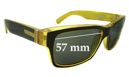 Von Zipper Fulton Replacement Sunglass Lenses - 57mm wide