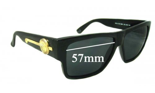 Versace MOD 372 Replacement Sunglass Lenses - 57mm Wide