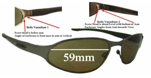 48d8239a3d3 Bolle Vanadium 2 Replacement Sunglass Lenses - 59mm wide tear drop shaped