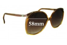Christian Dior 2104 Replacement Sunglass Lenses - 58mm Wide