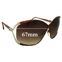 01a906af99c Sunglass Fix New Replacement Lenses for Christian Dior Vintage 2056 - 67mm  Wide