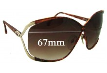 Christian Dior Vintage 2056 Replacement Sunglass Lenses - 67mm Wide