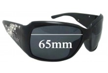 Christian Dior Strassy Replacement Sunglass Lenses - 65mm Wide