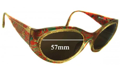 Christian Lacroix 7390 Replacement Sunglass Lenses - 57mm Wide