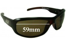 Dirty Dog Fudge Replacement Sunglass Lenses - 59mm x 35mm (older model)
