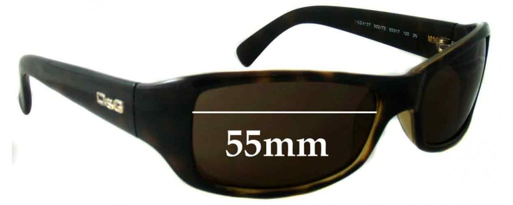 Dolce & Gabbana DG8027 Replacement Sunglass Lenses- 55mm Wide