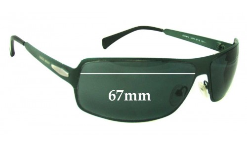Giorgio Armani 747 S Replacement Sunglass Lenses - 67mm Wide