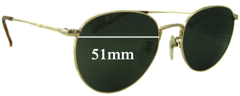 Sunglass Fix Replacement Lenses for Ray Ban John Lennon Bausch Lomb JL 213 - 51mm wide
