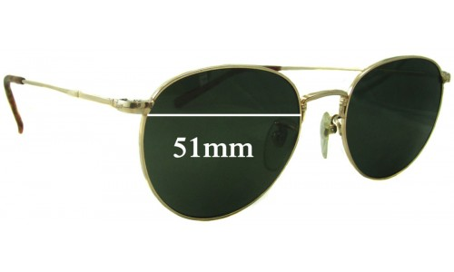 Sunglass Fix Replacement Lenses for Ray Ban John Lennon Bausch Lomb JL 213 - 51mm wide