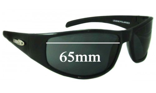 Legend Hurricane Replacement Sunglass Lenses - 65mm Wide