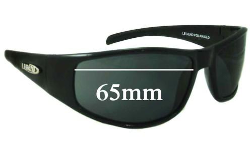 Legend Hurricane Replacement Sunglass Lenses - 65mm Wide