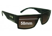 LIIVE Scat 031 Replacement Sunglass Lenses - 58mm wide
