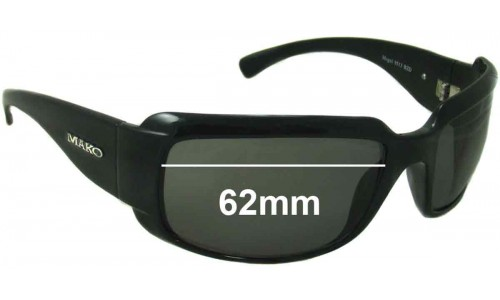 Mako Mogul 9513 Replacement Sunglass Lenses - 62mm wide