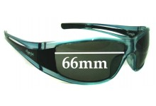 Sunglass Fix New Replacement Lenses for Mangrove Jacks Unknown Model - 66mm Wide