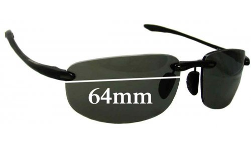 Maui Jim Ho'okipa MJ907 Replacement Sunglass Lenses - 64mm Wide