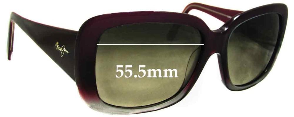 Maui Jim Lani MJ239 Replacement Sunglass Lenses - 55.5mm Wide