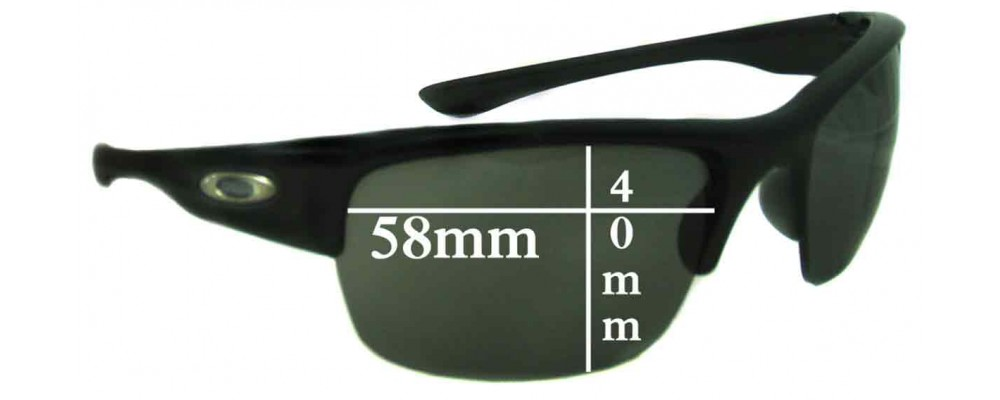 356443d809f Oakley Bottlecap XL Replacement Lenses - 58mm wide x 40mm high ...