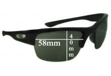 Oakley Bottlecap XL Replacement Sunglass Lenses - 58mm wide x 40mm high