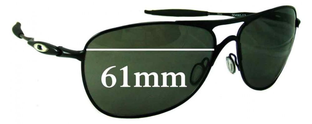 Oakley Crosshair 3 Replacement Sunglass Lenses - 61mm wide