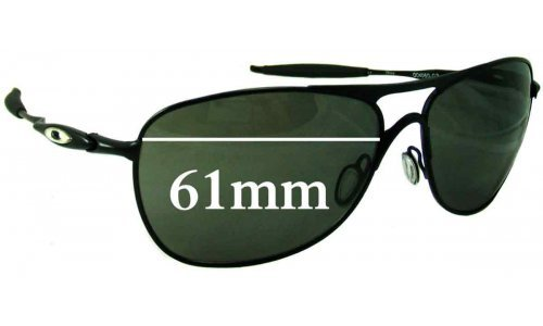 Oakley Crosshair New 3 OO4060 Replacement Sunglass Lenses - 61mm wide