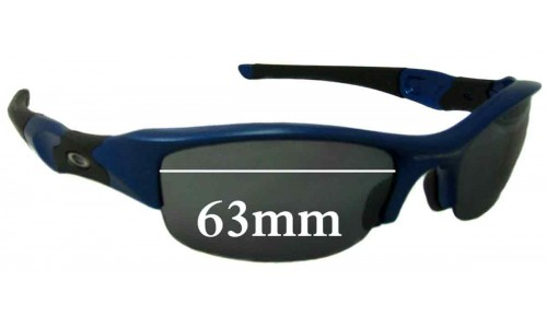 Sunglass Fix Replacement Lenses for Oakley Flak - 63mm Wide