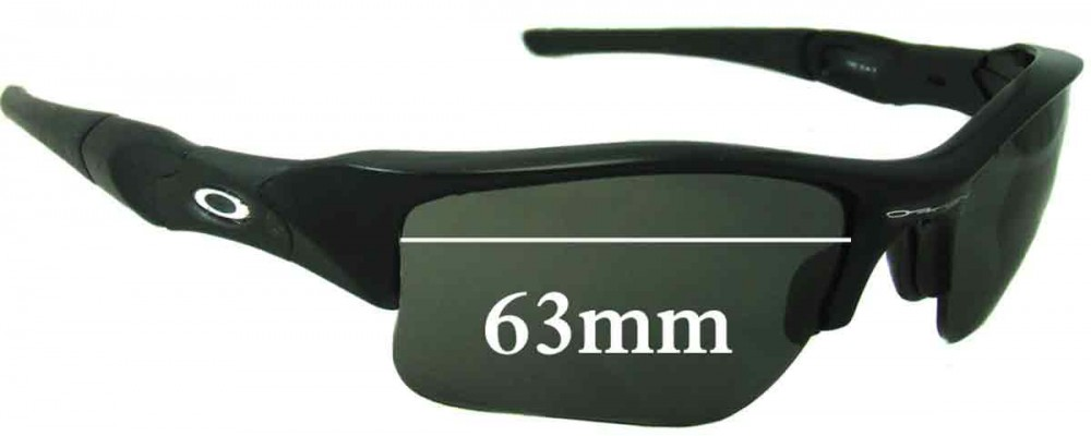 Oakley Flak XLJ Replacement Sunglass Lenses - 63mm Wide