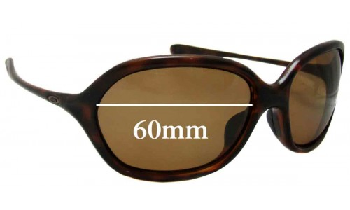 Sunglass Fix Replacement Lenses for Oakley Warm Up - 62mm wide