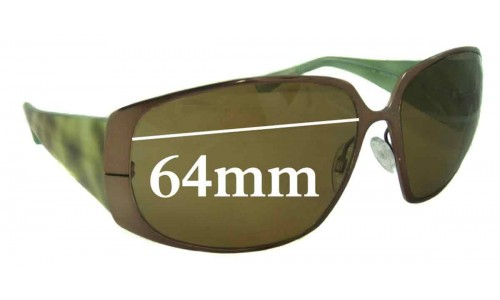 Paul Smith PS 824 Replacement Sunglass Lenses - 64mm Wide