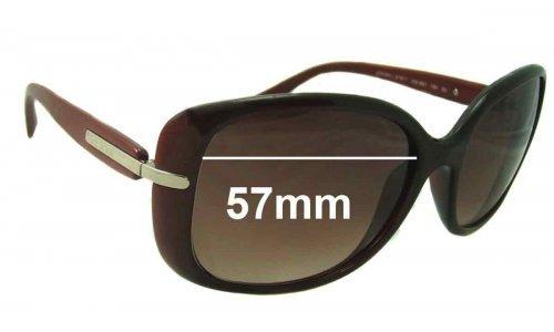 Prada SPR08O Replacement Sunglass Lenses - 57mm wide lens