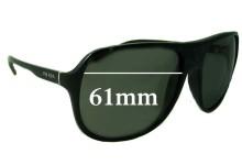 Prada SPR15M Replacement Sunglass Lenses - 61mm Wide