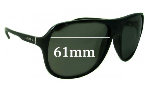 Prada SPR15M Replacement Sunglass Lenses - 61mm Wide