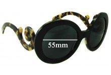 Prada SPR27N Replacement Sunglass Lenses - 55mm wide lens