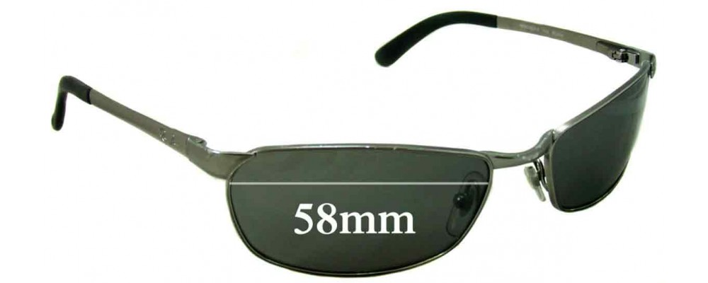 Ray Ban RAM2062AA Replacement Sunglass Lenses - 58mm wide X 32mm