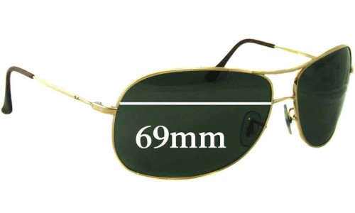 Ray Ban RB3267 Sunglass Replacement Lenses - 69mm wide