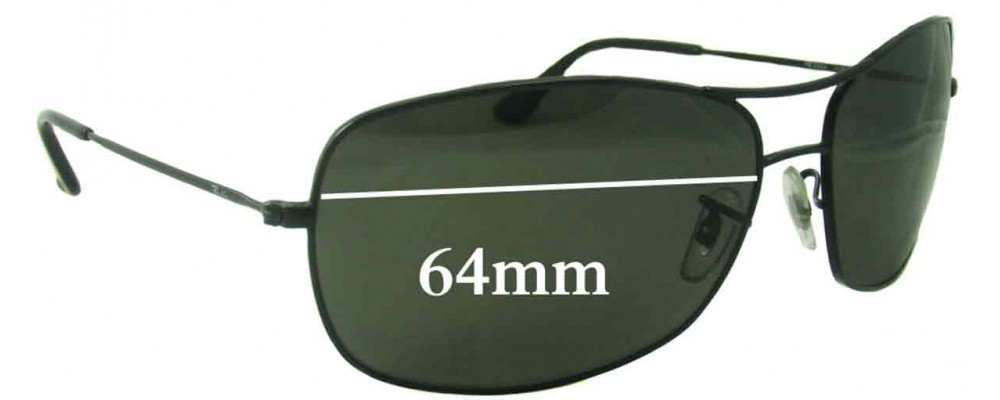 Ray Ban RB3322 Replacement Sunglass Lenses - 64mm wide