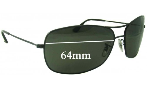 Sunglass Fix Replacement Lenses for Ray Ban RB3322 - 64mm wide