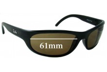 Ray Ban RB4033 Replacement Sunglass Lenses - 61mm across