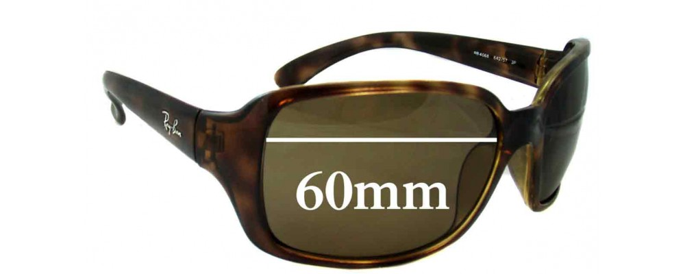 f40e42638e Ray Ban RB4068 Replacement Sunglass Lenses - 60mm across